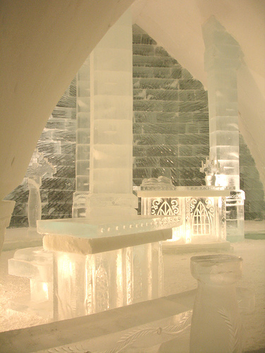 Ice Hotel Wedding chapel